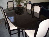 Black Lacquer Dining Room Set | Flickr - Photo Sharing!