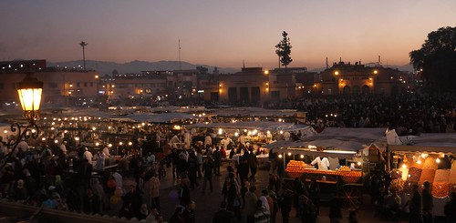 Sunset on Jemaa el Fna