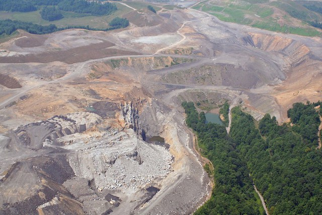 Mountaintop removal mining in Wise County, Virginia