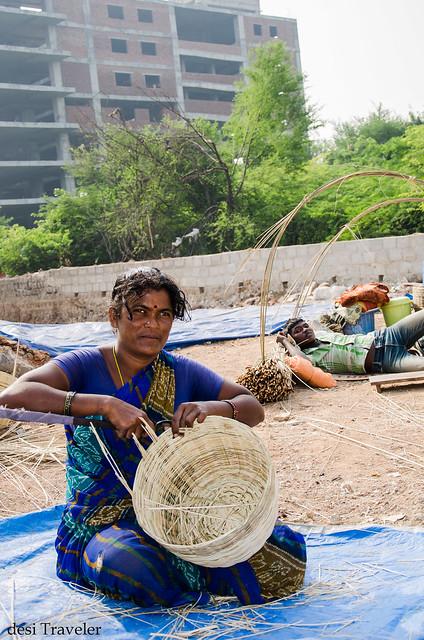 bamboo basket maker women