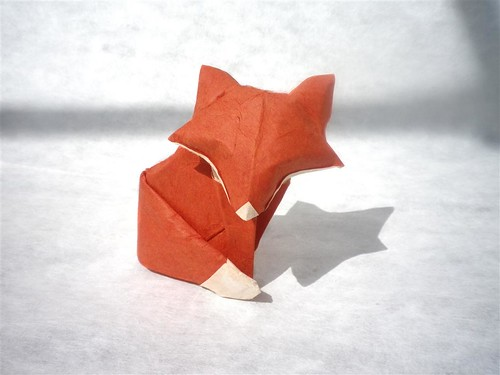 Easy Origami Fox - How to Make Fox Step by Step - YouTube | 375x500