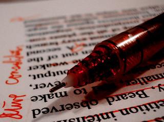 Alaska Teacher red pen