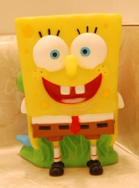 spongebob bath set~toothbrush holder | Flickr - Photo Sharing!
