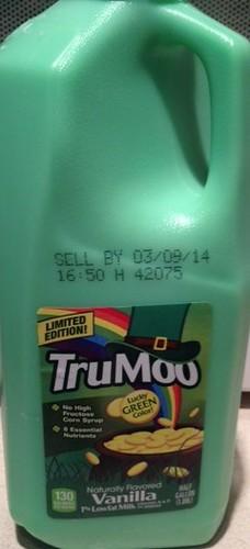 TruMoo Limited Edition Lucky Green Color Vanilla Milk