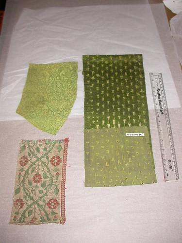 Textile fragments. Museum nos 47-1892, 744-1894, 8671-1863.