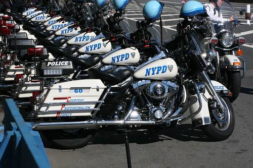 NYPD motorbikes