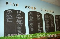 Middle School Tired Words Word Wall | Flickr - Photo Sharing!