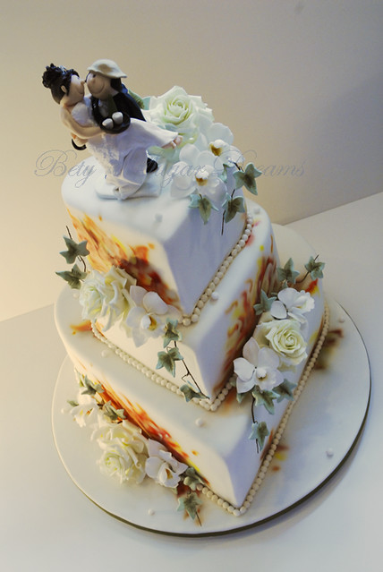Firefighter wedding  Wedding cake for a firefighter and his  Flickr  Photo Sharing
