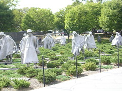 korean war memorial in DC