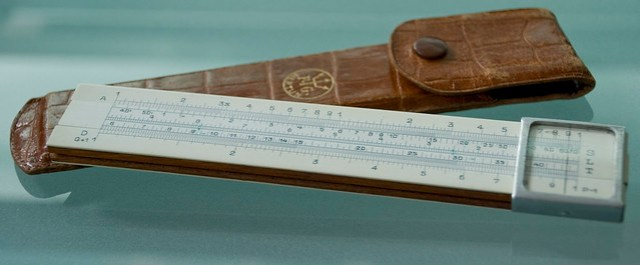 Slide Rule And Case
