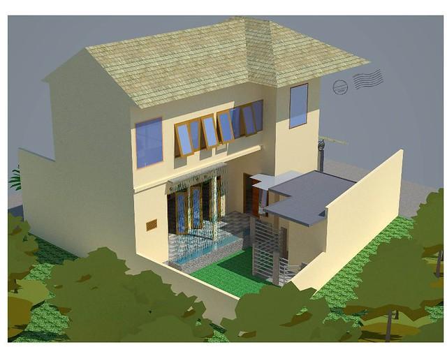 Gambar Desain Rumah Tampak Samping Dalam Contoh Gambar