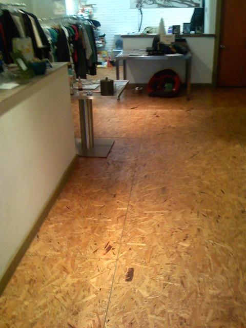 Chip board flooring