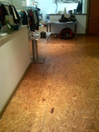 Chip board flooring