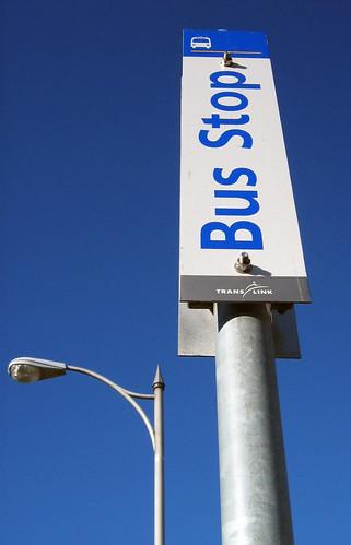 Bus stop signpole