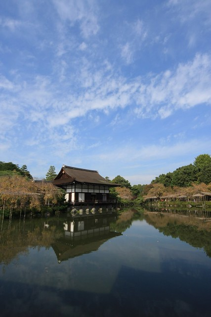 House on the Pond in Gardens of Heian Shrine, Kyoto