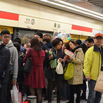 crowded subway station - new year's eve 02