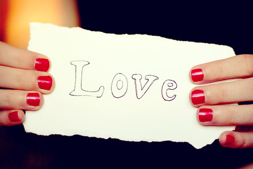 Love on a piece of paper