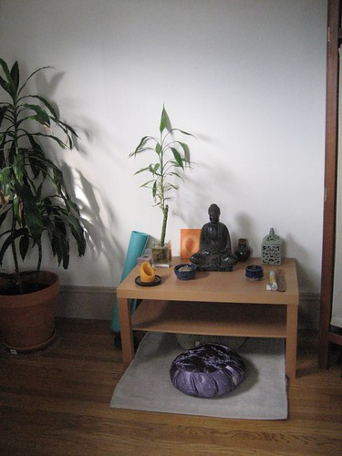 Meditation corner  This is where the enlightenment