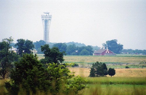 Last day for the Gettysburg Tower, late afternoon July 2, 2000