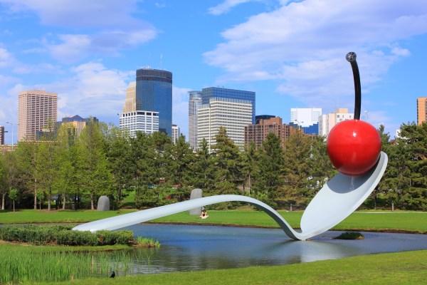 Spoonbridge And Cherry Minneapolis Sculpture Garden