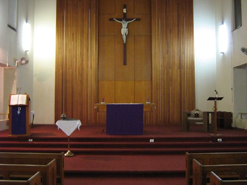 Sanctuary prepared for Lent