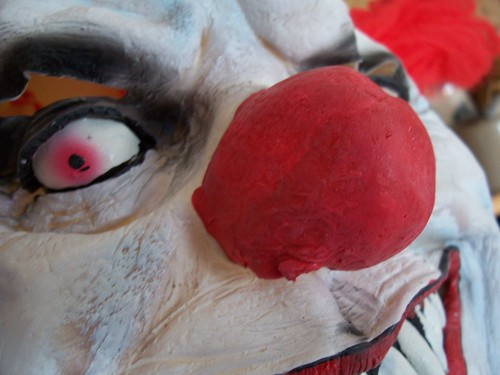Evil Clown Mask detail