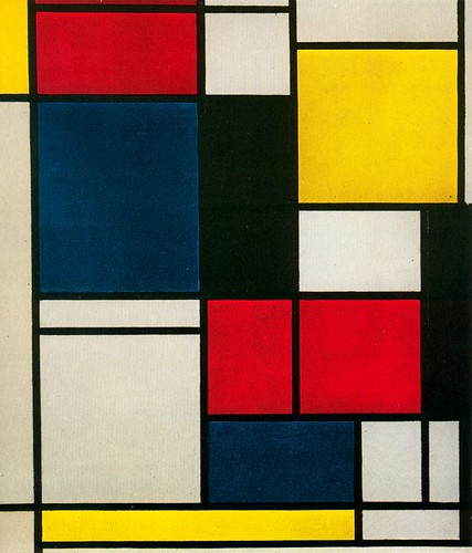 Composición - Piet Mondrian by tarlett2007