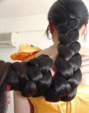 thick longhair braids