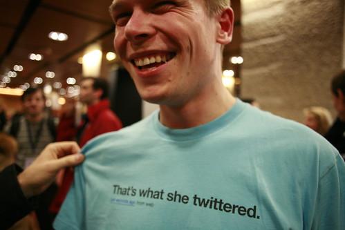 Fun Twitter shirt seen at LIFT
