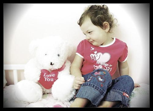 Jacey & her Valentine Bear!
