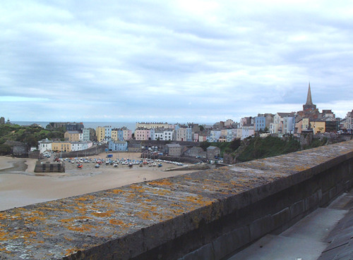 Tenby Wales - view from Fourcroft hotel room