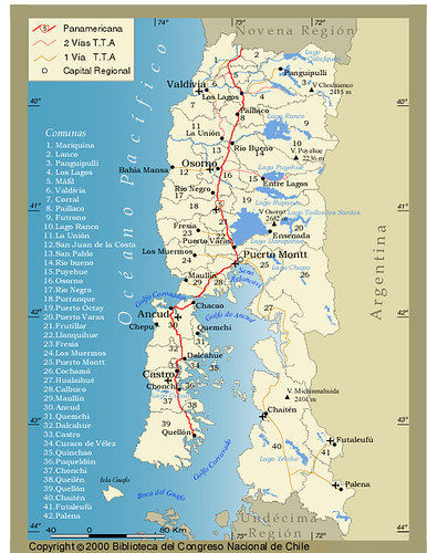 Mapa X Región de Chile