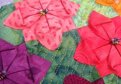 Fabric Origami Flowers