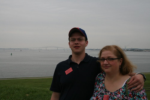 Sean and Dianne with harbor in background