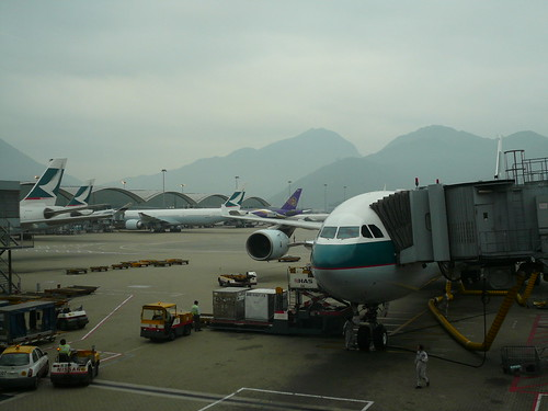 Hong Kong airport where we change planes