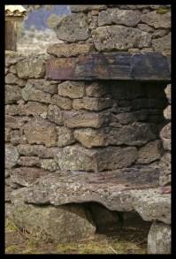 Old lava rock fireplace, early settler days.