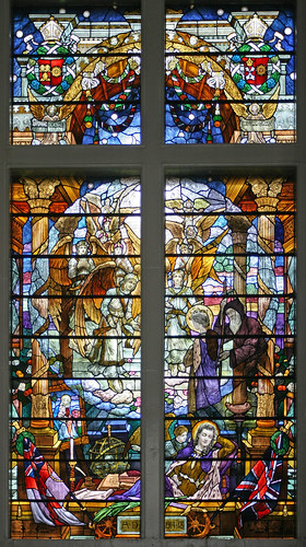 War memorial window, St. Catharines College chapel, Cambridge by TheRevSteve
