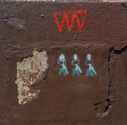 Soldiers Graffiti Art , West Village, NYC by DRheins
