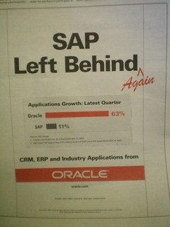 An Oracle Ad Mocking SAP