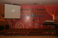 Backdrop Acara Reuni 20 tahun SMA Don Bosco Padang angk 87