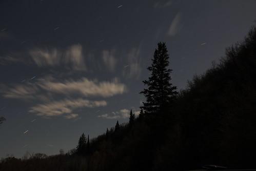 The night sky over Liberty, Utah