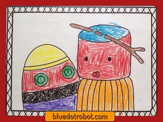Digit & Boo, coloring by Jack