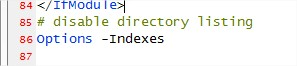 Disable Directory Listing via .htaccess