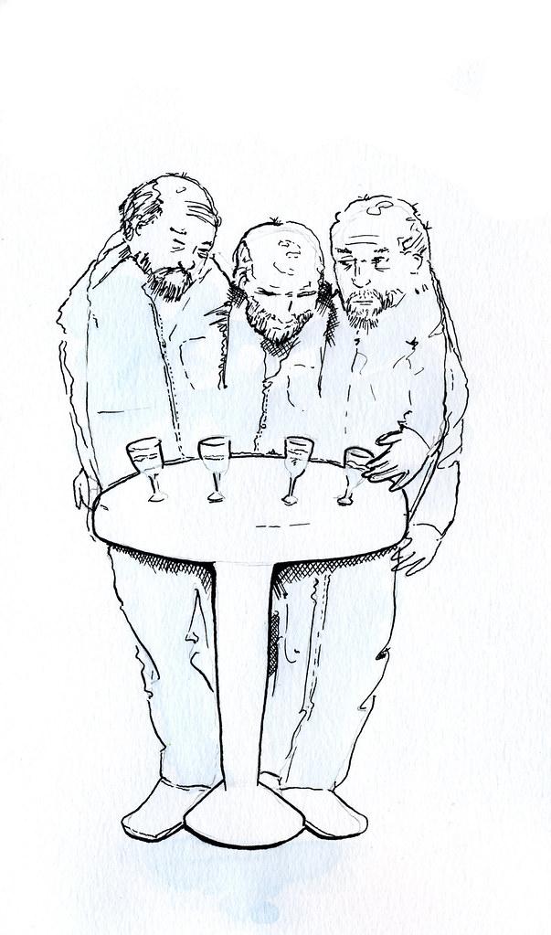 Mr. Medbourne, Colonel Killigrew, Mr. Gascoigne, and Widow