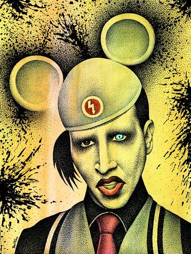 Marilyn Manson -2- by Ben Heine