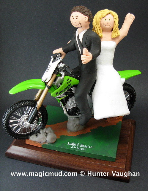 Kawasaki Dirt Bike Wedding Cake Topper Flickr Photo