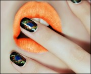 famous peacock nail design