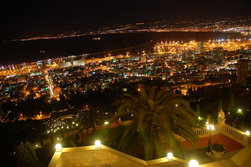Christmas Wallpaper Hd Haifa Israel At Night Flickr Photo Sharing