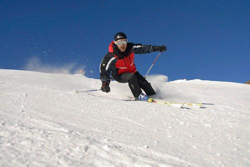 Nacho Correa esquiando en Cerler 05