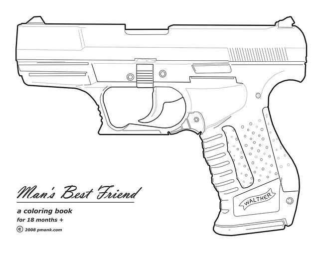 Free coloring pages of nerf gun